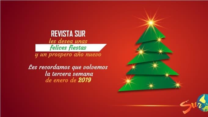 REVISTA SUR les desea Felices Fiestas
